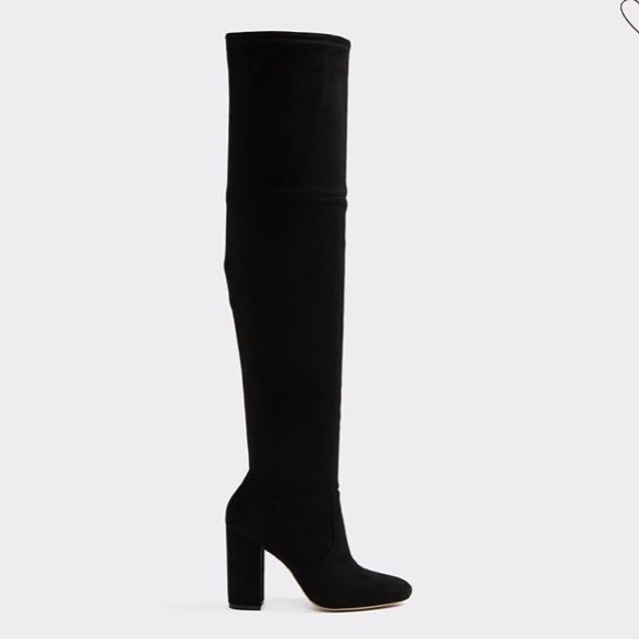 Aldo Shoes - ALDO Black suede over the knee boots size 9